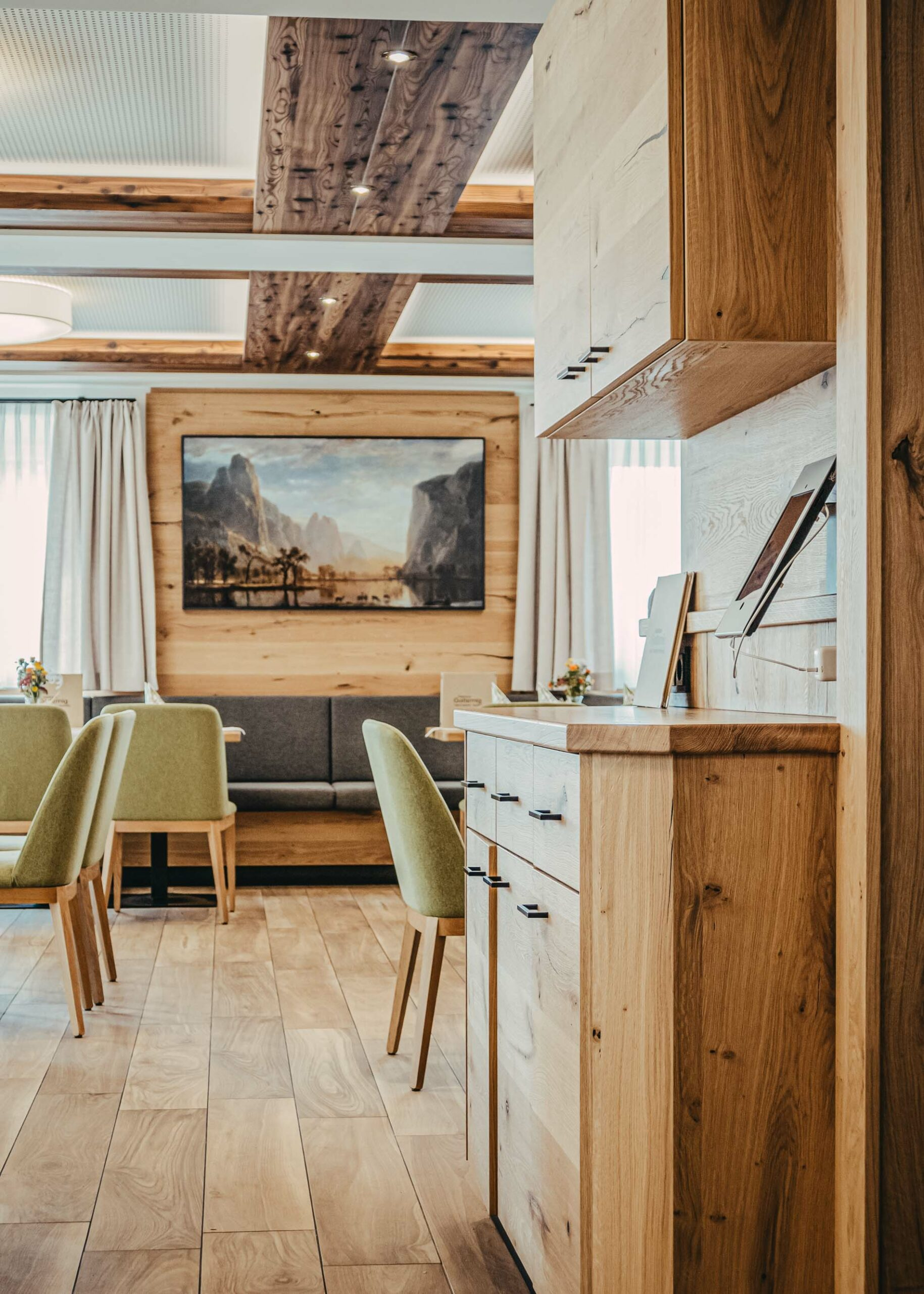 Referenzbild einer Sitzecke Gasthaus Gatternig